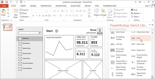 Wireframing And Storyboarding With PowerPoint & PowerMockup