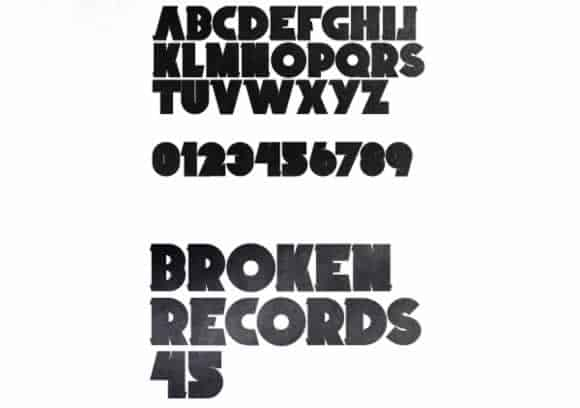 free-fonts-commercial-personal-use-19-broken-records