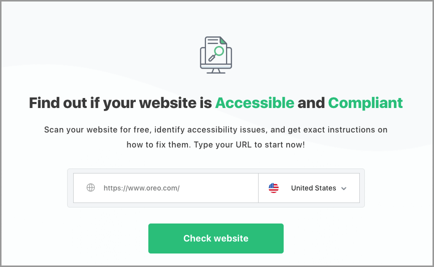 Screenshot of Accessibility Checker. Click to visit website.